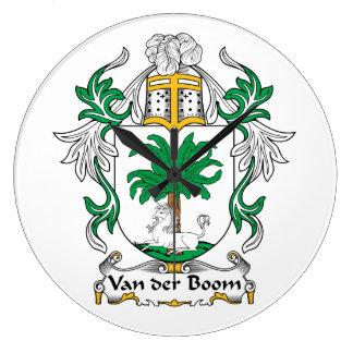 Escudo de Van der Boom Family Reloj De Pared
