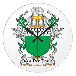 Escudo de Van Der Donk Family Relojes De Pared