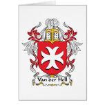 Escudo de Van der Hell Family Felicitacion