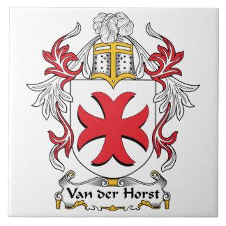 Escudo de Van der Horst Family Azulejo Cuadrado Grande