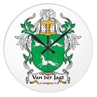 Escudo de Van der Jagt Family Relojes De Pared