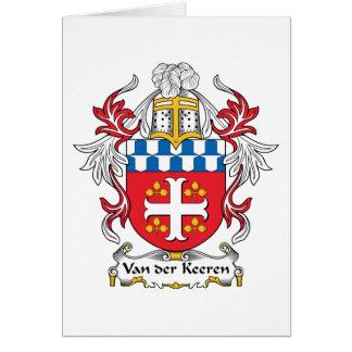 Escudo de Van der Keeren Family Tarjeta De Felicitación