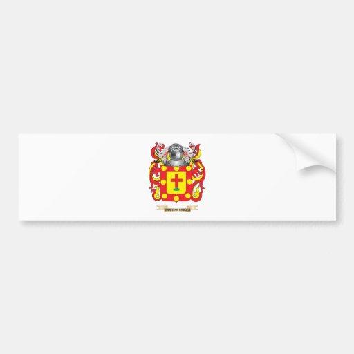 Escudo de Van der Kruijs Family (escudo de armas) Pegatina Para Auto