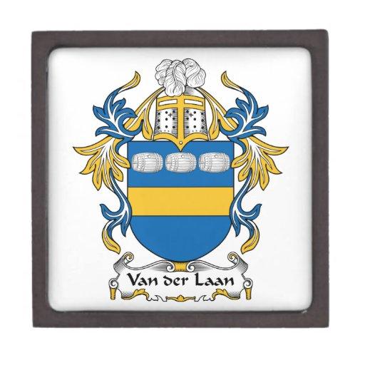 Escudo de Van der Laan Family Cajas De Joyas De Calidad