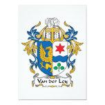 Escudo de Van der Ley Family Invitación 12,7 X 17,8 Cm
