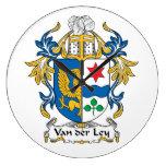 Escudo de Van der Ley Family Relojes De Pared