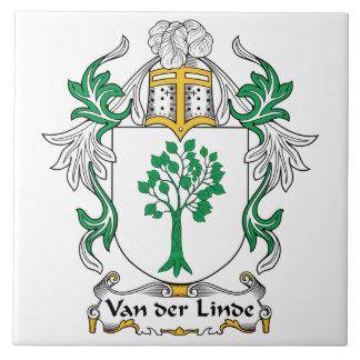 Escudo de Van der Linde Family Azulejo Cuadrado Grande
