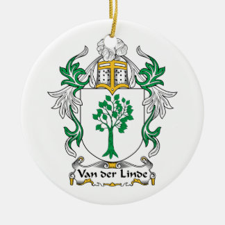 Escudo de Van der Linde Family Adorno Redondo De Cerámica