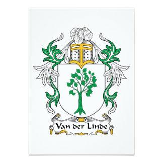 """Escudo de Van der Linde Family Invitación 5"""" X 7"""""""
