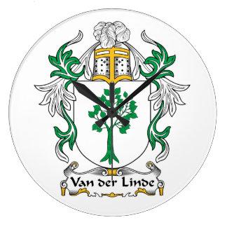 Escudo de Van der Linde Family Reloj De Pared