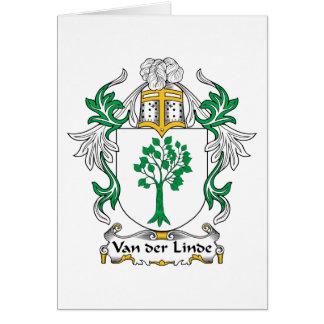 Escudo de Van der Linde Family Tarjeta De Felicitación