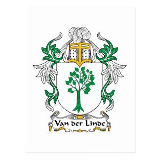 Escudo de Van der Linde Family Postales