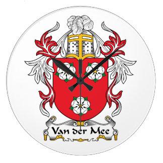 Escudo de Van der Mee Family Reloj De Pared