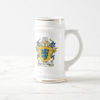 Escudo de Van der Meer Family Jarra De Cerveza