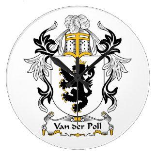Escudo de Van der Poll Family Relojes