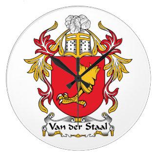 Escudo de Van der Staal Family Reloj De Pared