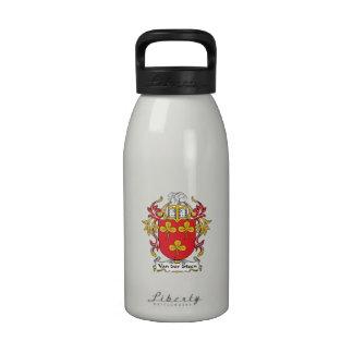 Escudo de Van der Steen Family Botellas De Agua Reutilizables