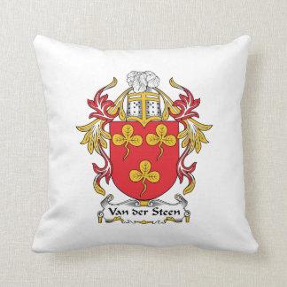 Escudo de Van der Steen Family Almohada