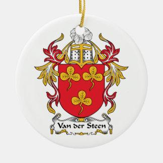 Escudo de Van der Steen Family Ornamentos De Reyes Magos