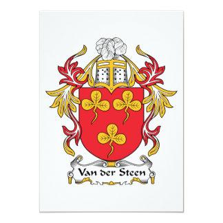 Escudo de Van der Steen Family Invitación Personalizada