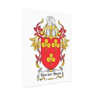 Escudo de Van der Steen Family Impresiones En Lona Estiradas