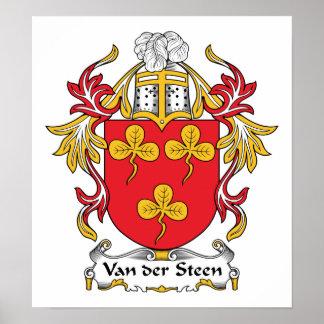 Escudo de Van der Steen Family Impresiones