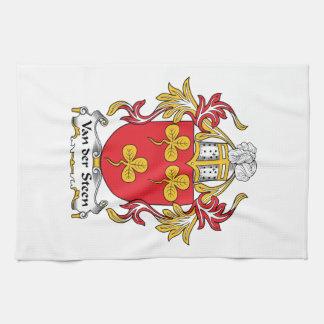 Escudo de Van der Steen Family Toallas De Mano