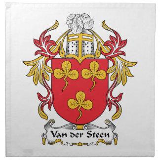 Escudo de Van der Steen Family Servilleta Imprimida