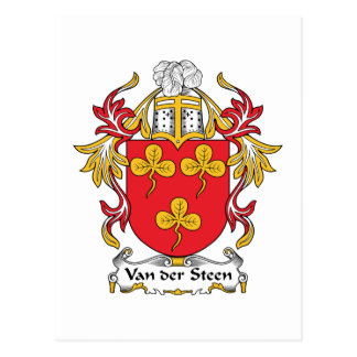 Escudo de Van der Steen Family Postales