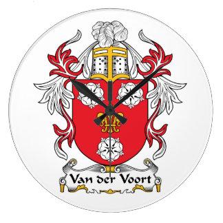 Escudo de Van der Voort Family Reloj De Pared