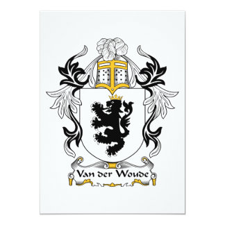 """Escudo de Van der Woude Family Invitación 5"""" X 7"""""""