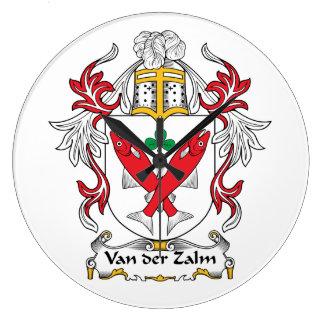 Escudo de Van der Zalm Family Relojes De Pared