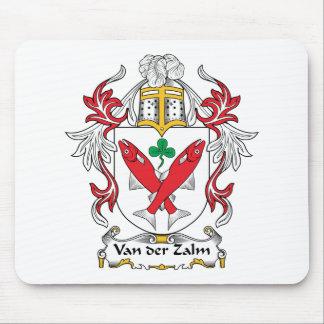 Escudo de Van der Zalm Family Alfombrillas De Ratones