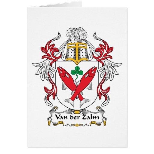 Escudo de Van der Zalm Family Tarjetón