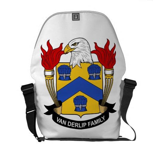 Escudo de Van Derlip Family Bolsa Messenger