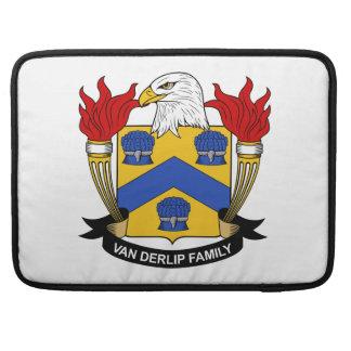 Escudo de Van Derlip Family Fundas Macbook Pro