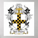 Escudo de Van Doorn Family Impresiones