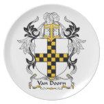 Escudo de Van Doorn Family Platos Para Fiestas