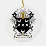 Escudo de Van Dorsten Family Ornamentos De Reyes Magos