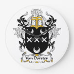 Escudo de Van Dorsten Family Reloj De Pared