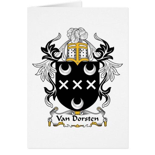 Escudo de Van Dorsten Family Tarjeta De Felicitación
