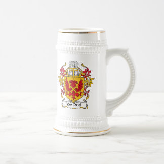 Escudo de Van Driel Family Jarra De Cerveza