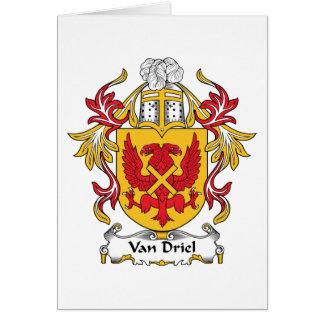 Escudo de Van Driel Family Tarjeta De Felicitación