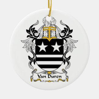 Escudo de Van Duren Family Adorno Redondo De Cerámica