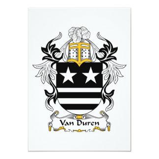Escudo de Van Duren Family Invitación 12,7 X 17,8 Cm