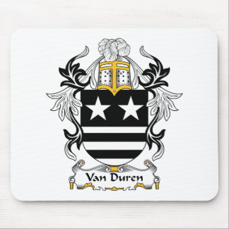 Escudo de Van Duren Family Alfombrilla De Ratones