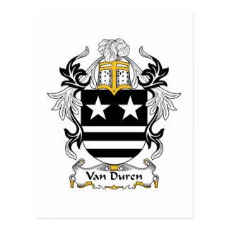Escudo de Van Duren Family Postal