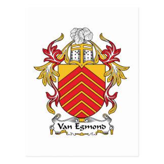 Escudo de Van Egmond Family Tarjetas Postales