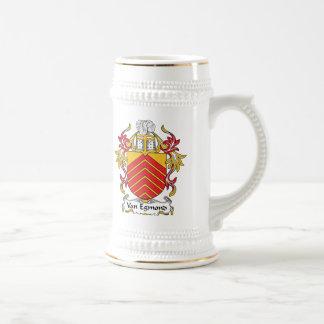 Escudo de Van Egmond Family Jarra De Cerveza