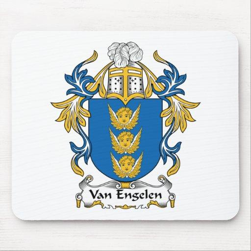 Escudo de Van Engelen Family Alfombrillas De Ratones